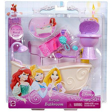 Disney princess royal bathroom furniture play set for Disney princess bathroom set