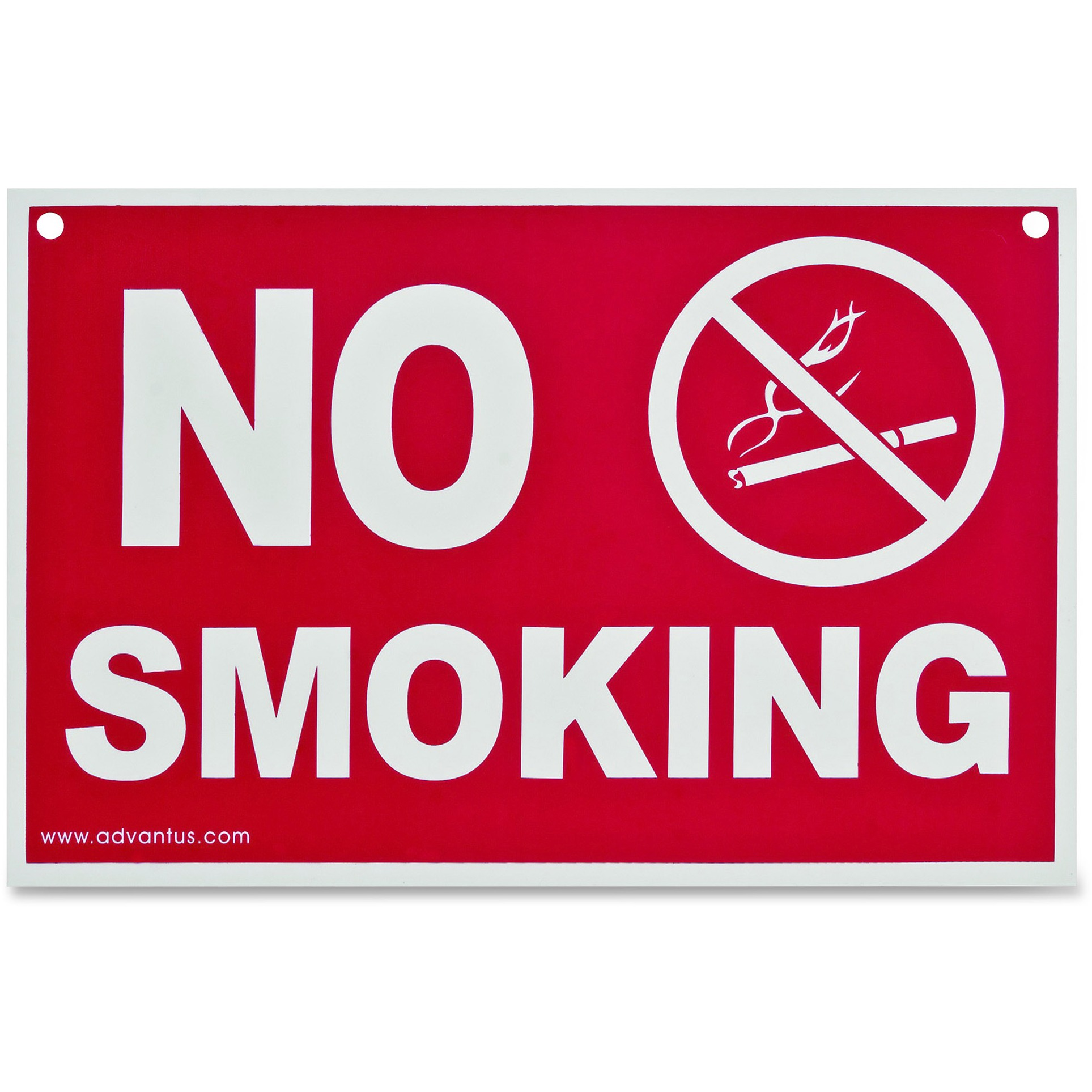 Advantus No Smoking Wall Sign