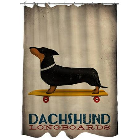 MOD Home Dachshund Long Board Shower Curtain