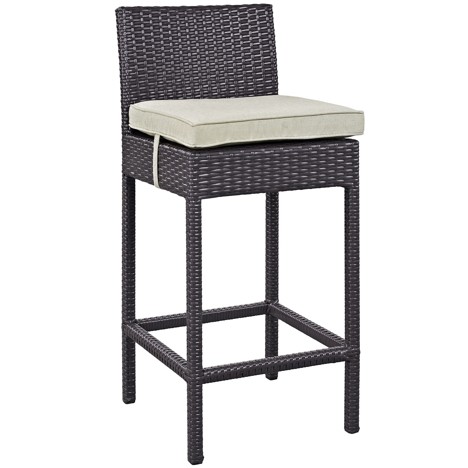 Modway Convene Outdoor Patio Fabric Bar Stool, Multiple Colors