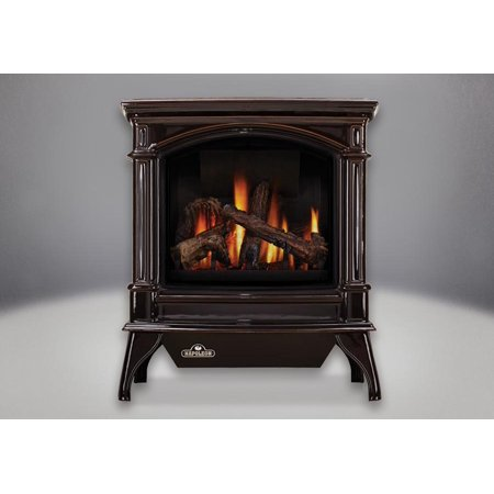 Gvfs60 1Nn Cast Iron Stove Body Vent Free Gas Stove   Porcelain Majolica Brown Finish  Natural Gas