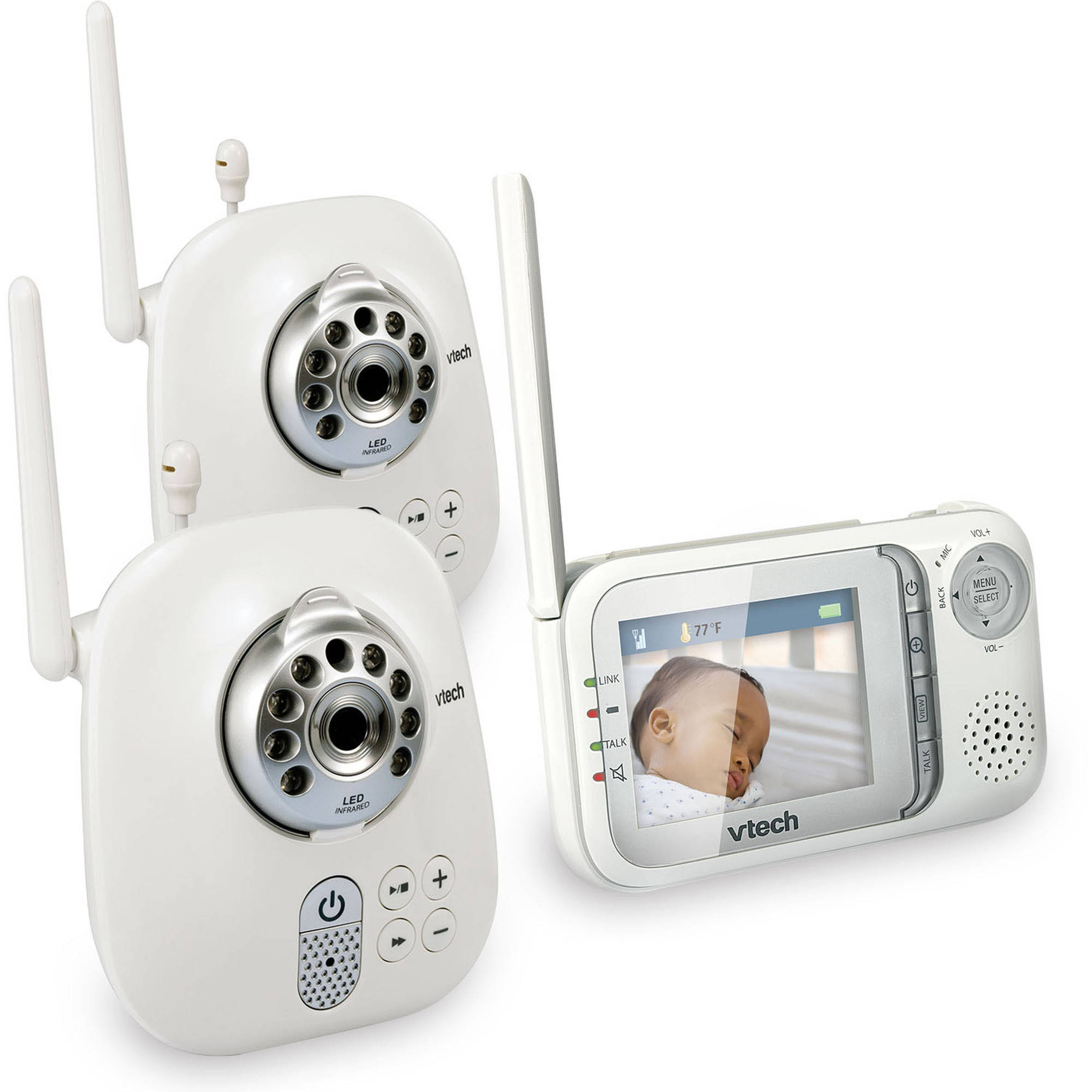 VTech VM321-2 Safe & Sound Video Baby Monitor with Night Vision and 2 Cameras