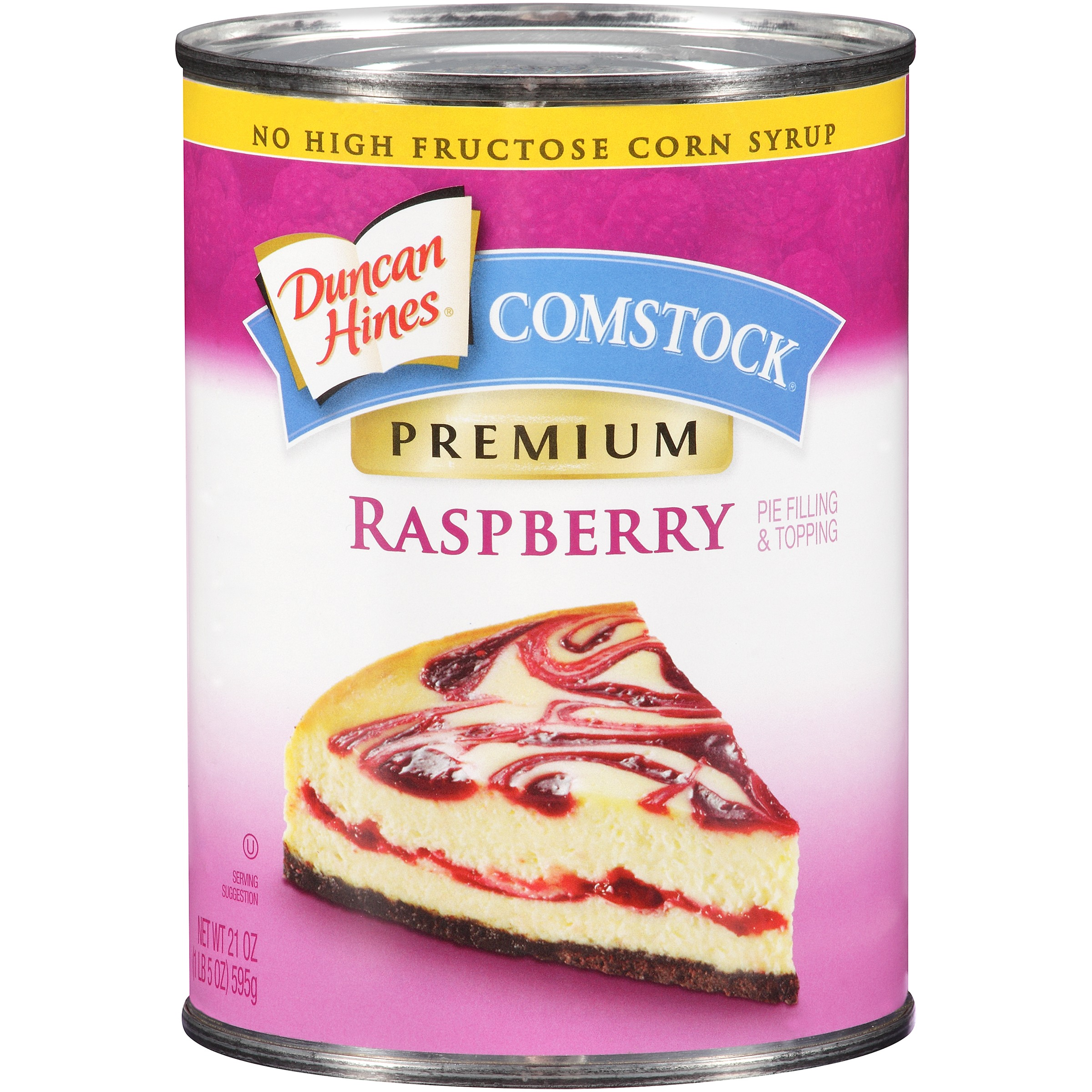 Comstock Premium Raspberry Pie Filling Or Topping, 21 oz by Pinnacle Foods Group LLC