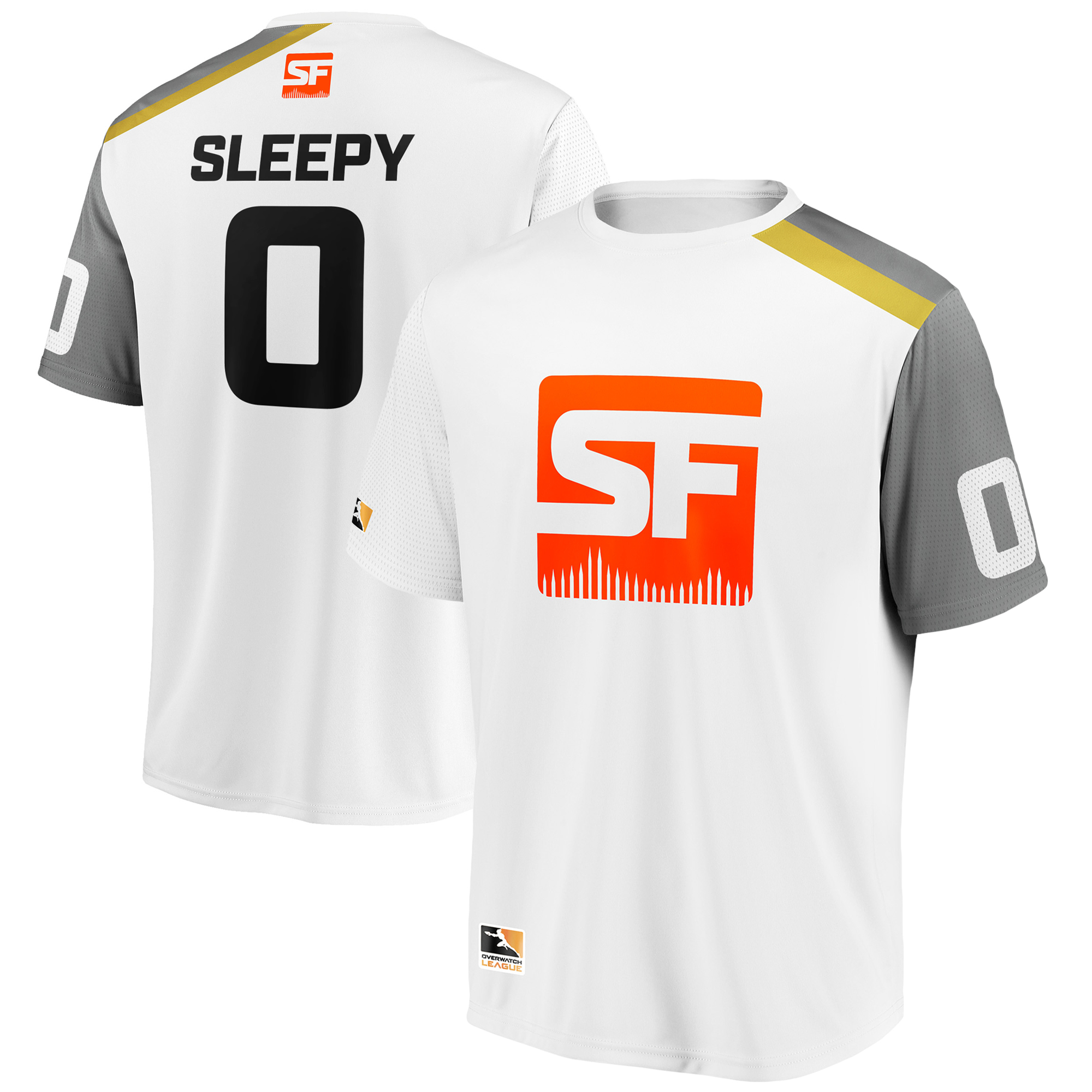sleepy San Francisco Shock Overwatch League Replica Away Jersey - White