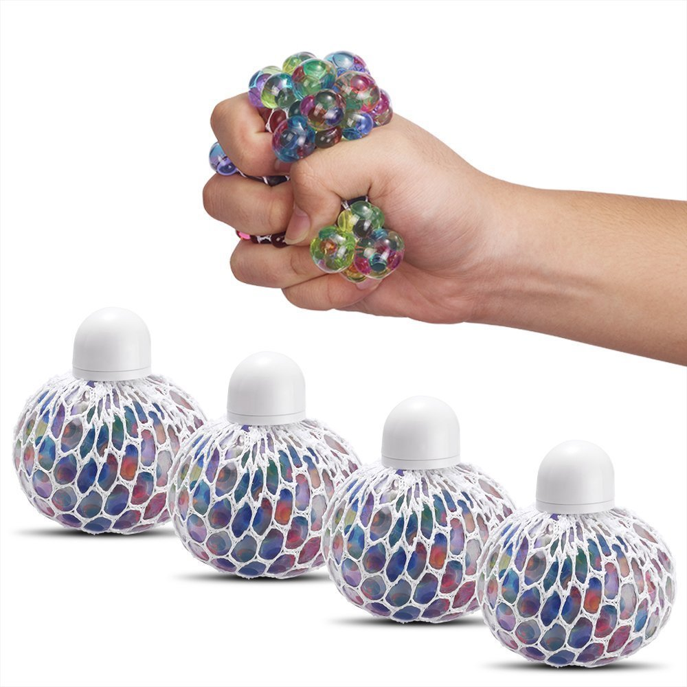 Squishy Mesh Water Beads Ball Squeeze Anti Stress Reliever Mix Coloured Toy