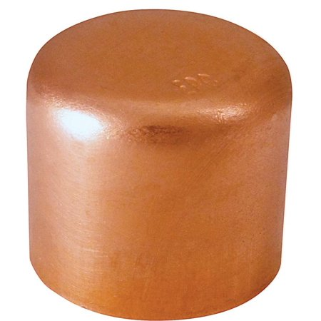 EPC 30626 Tube Cap, 1/2 in, Sweat/Solder, Wrot