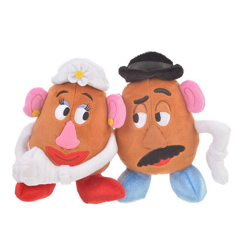 Disney Store Japan Mr.Potato Head & Mrs. Potato Head Valentine Plush New Tags by