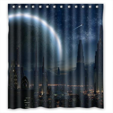 DEYOU Coruscant Star Wars Shower Curtain Polyester Fabric Bathroom Size 60x72 Inches