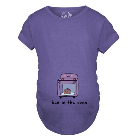 Maternity Bun In The Oven T shirt Funny Pregnancy Announcement Tee (Halloween Pregnancy Announcements)