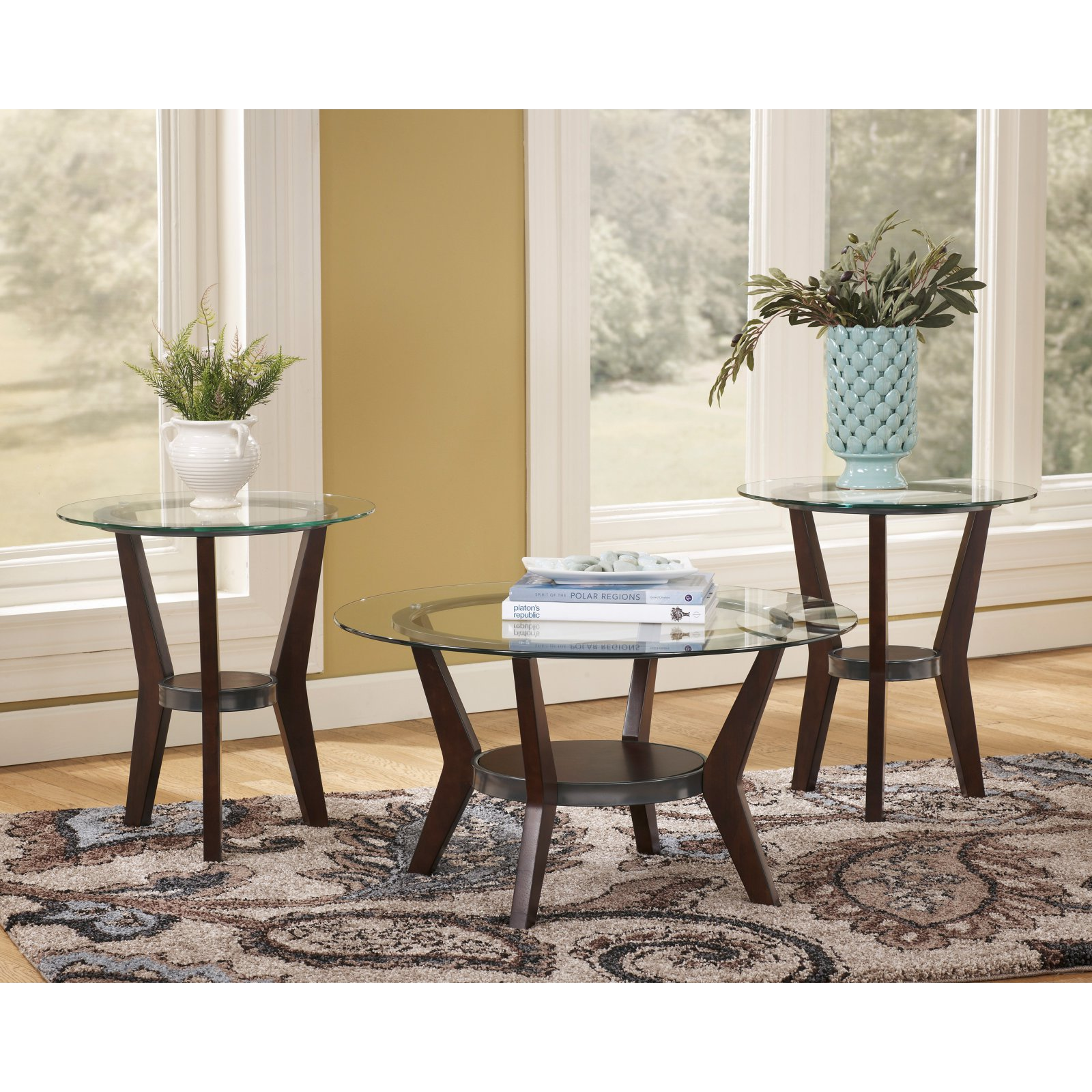 Signature Design By Ashley Fantell Brown Occasional Table - Set of 3