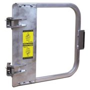 PS DOORS LSG-18-ALU Safety Gate,16-3/4 to 20-1/2 In,Alum