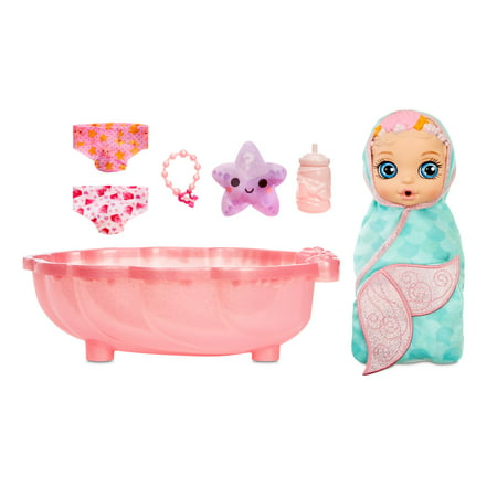 BABY born Surprise Mermaid Surprise – Baby Doll with Teal Towel and 20+ Surprises