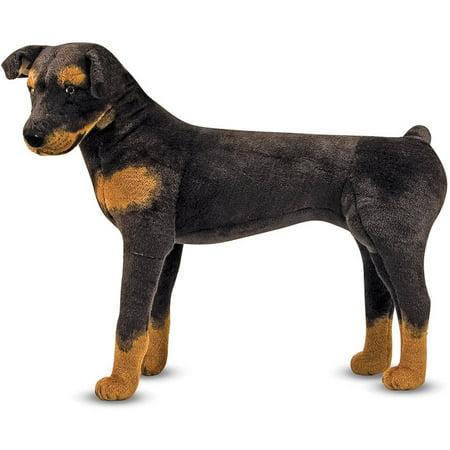 Melissa & Doug Giant Rottweiler - Lifelike Dog Stuffed Animal (2 feet tall)