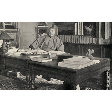 Dumas Fils In His Study Alexandre Dumas The Younger1824-1895 French Author Son Of Dumas (Pre)From The Book The International Library Of Famous LiteraturePublished In London 1900 Volume Xviii Canvas A