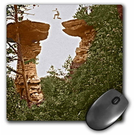 3dRose Vintage 1899 Wisconsin Dells Stand Rock, Mouse Pad, 8 by 8 inches