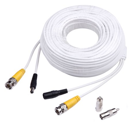 Masione security camera 100 Feet BNC Video Power Cable wires for Security Camera CCTV DVR Surveillance