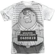 Adult Cartoon TVSeries Peter Under Arrest Adult 2-Sided Print T-Shirt
