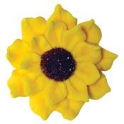 Small Sunflowers Royal Icing Cake/Cupcake Decorations 12 Ct (Halloween Cupcake Icing Decorations)
