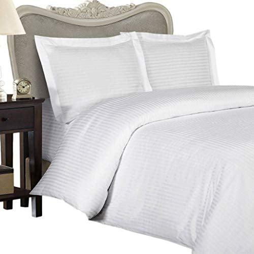 4 PCs Sheet Set Dark Grey Stripe 1000 Thread Count 100/% Egyptian Cotton USA Size