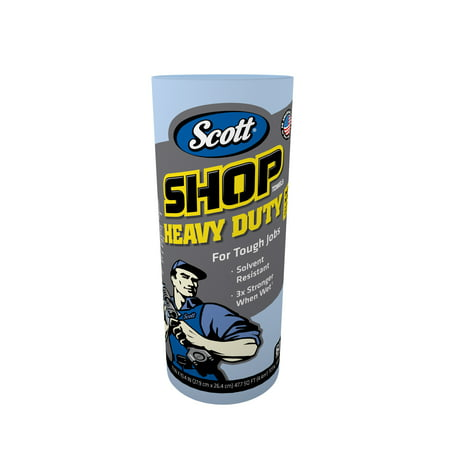 Scott Professional Heavy Duty Shop Towels, 3X Stronger when Wet, 60 Sheets, 1 Ct](Costime Shop)