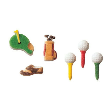 Golf Sugar Decorations Toppers Cupcake Cake Cookies Sports Birthday Favors Party 12 Count