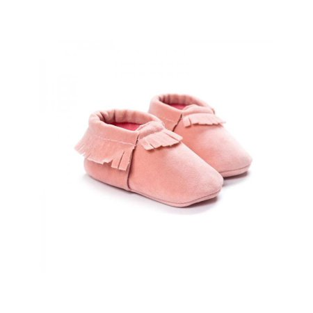 Topumt New Cute Baby Kids Boys Girls Shoes Tassel Suede Leather Shoes Toddler Moccasin Soft Crib Shoes 0-18M Leather Suede Moccasins