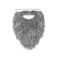 Fun Beard Grey Fake Gray Strap On Pirate Santa Claus Gnome Costume Accessory