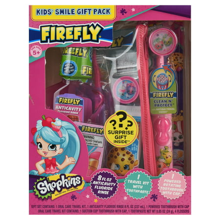 Firefly Shopkins Kids Toothbrushes, Toothpaste and Mouthwash Oral Care Holiday Gift Set