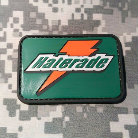 HATERADE PVC Morale Patch, Velcro Morale Patch by NEO Tactical