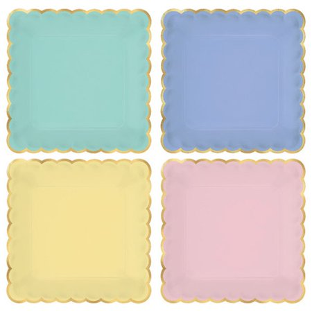 Spring Pastels Small Scalloped Paper Plates (8ct) (Small Scallops)