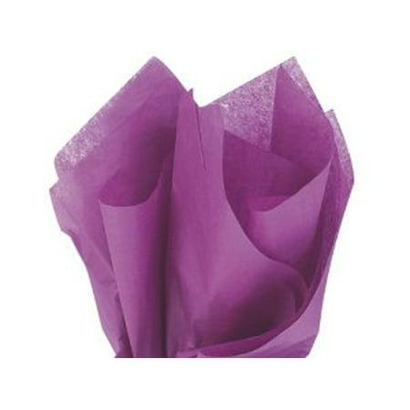 48 Large PLUM Gift Wrap Pom Pom Tissue Paper 20x30