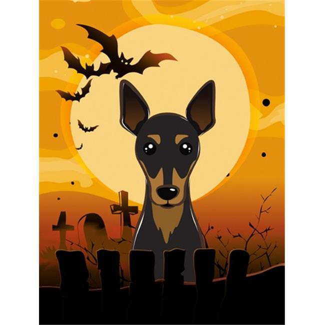 Halloween Min Pin Flag Garden Size - image 1 of 1
