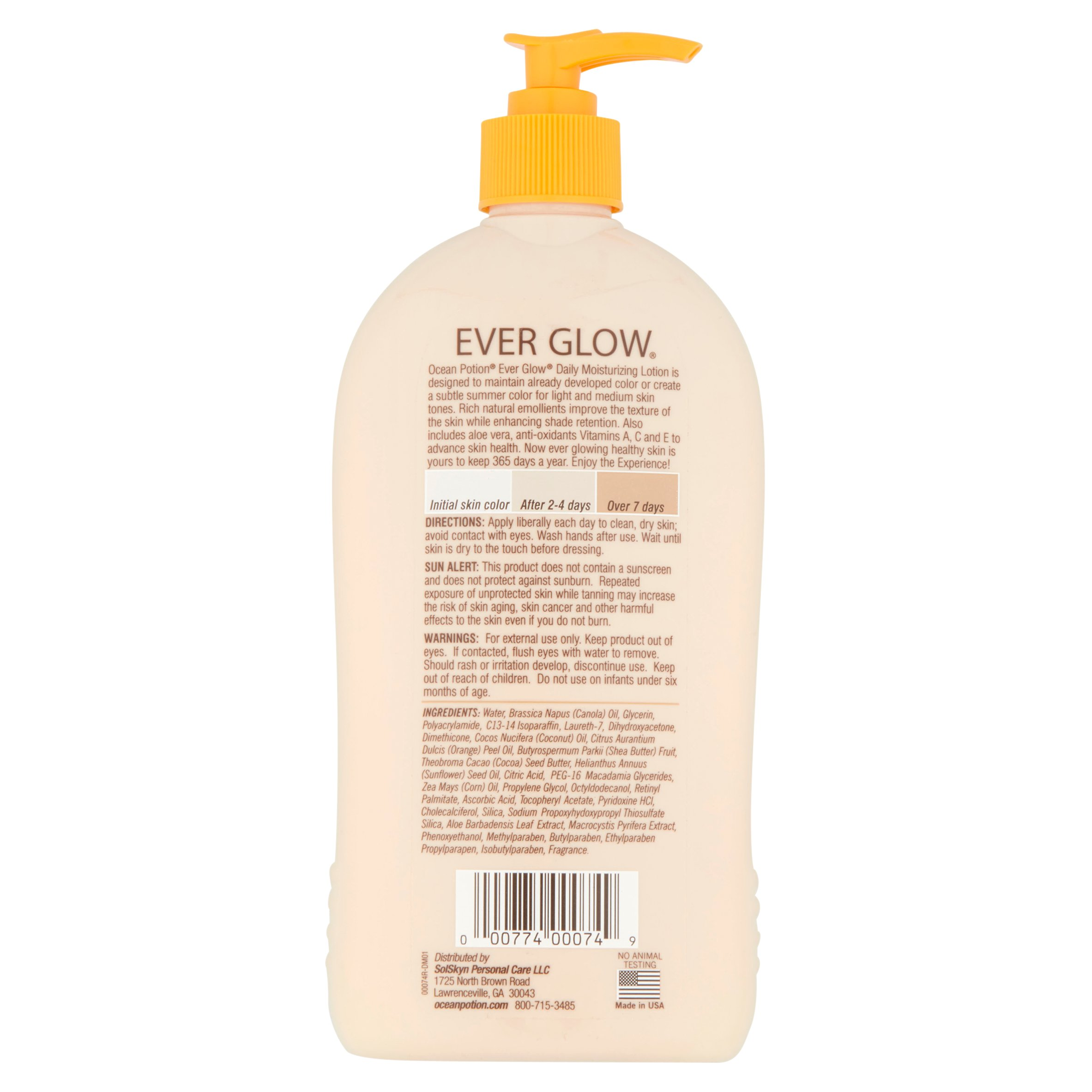 Ocean Potion Skincare Ever Glow Daily Moisturizer Lotion 20.5 Fl Oz At Any Cost After Sun Skin Care Sun Protection & Tanning