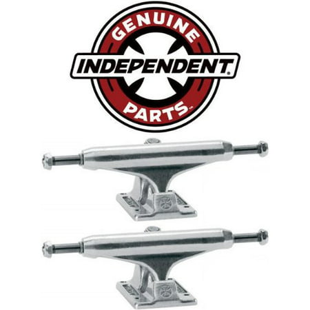 INDEPENDENT Skateboard Trucks 129mm Silver Raw STAGE 11 7.75 in PAIR (2 trucks), Standard Stage 11 By Independent Trucks