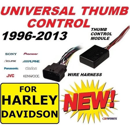 FITS HARLEY TOURING THUMB CONTROL INTERFACE ADAPTER MODULE HARNESS INSTALLATION - Light Installation Harness