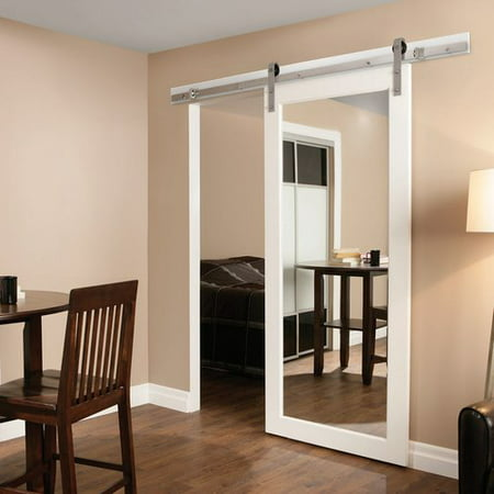 Erias Home Designs Bent Strap Flat Track Barn Door Hardware Kit ...