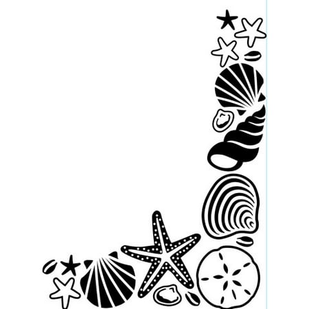 Embossing Folder Shell Corner 4.25X5.75 By Darice