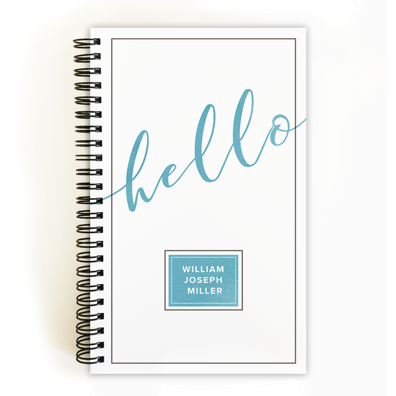 Graceful Script - Personalized 5 x 8 Notebook