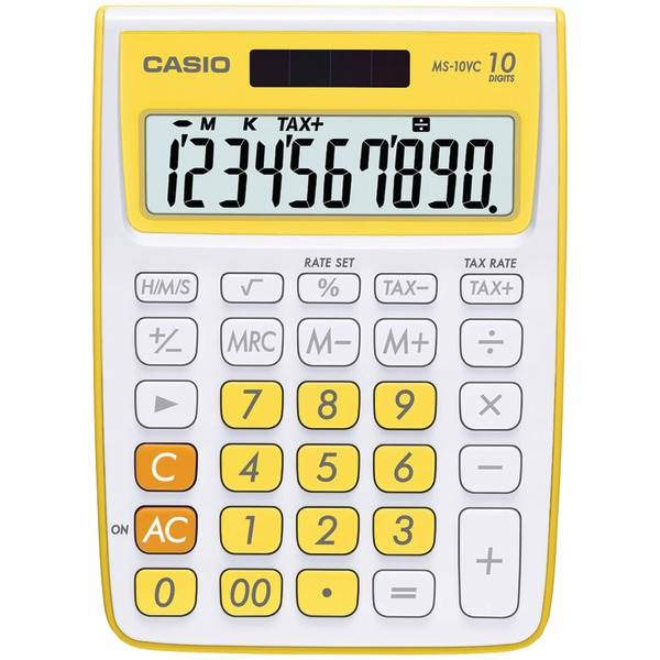 10 Digit Calculator  - Yellow