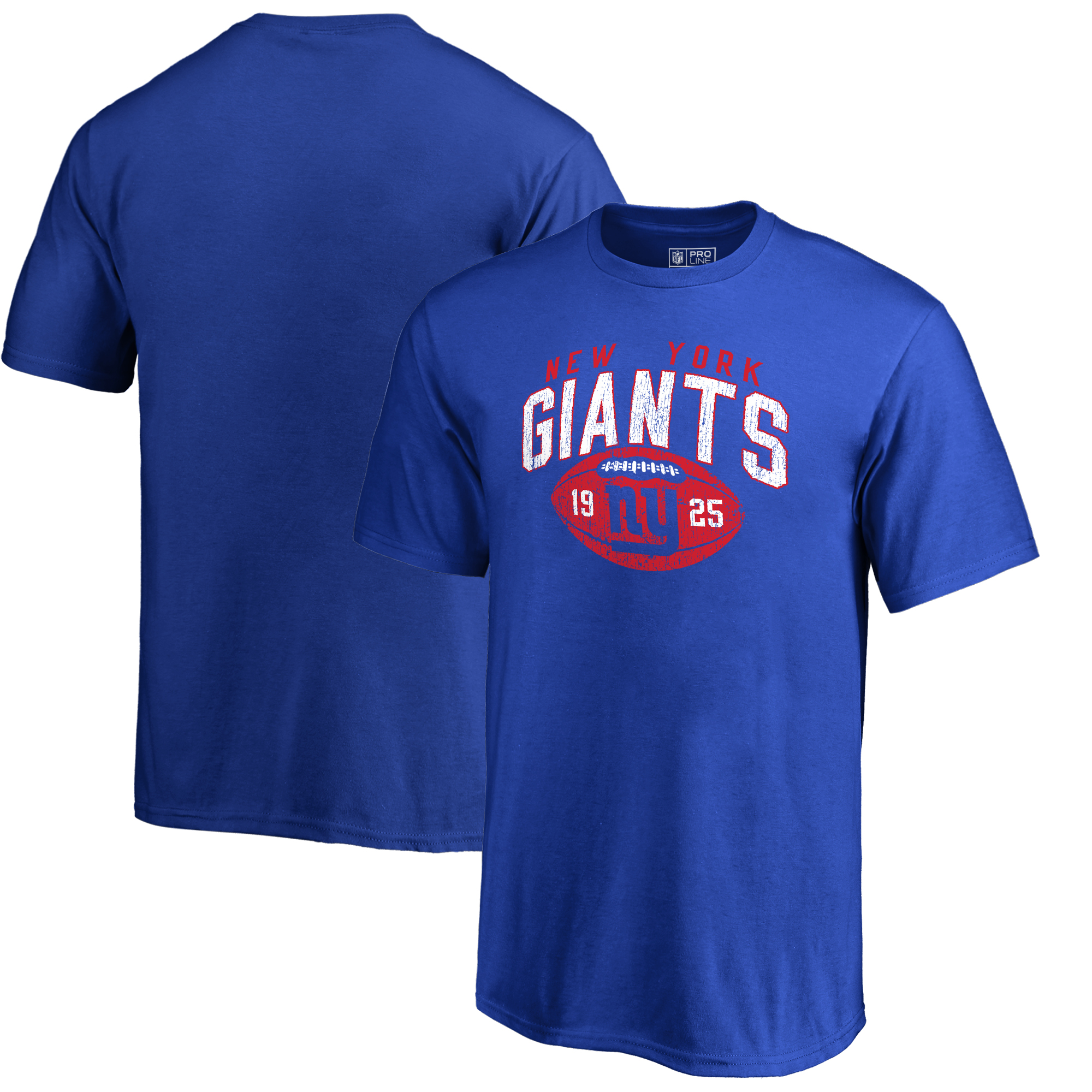 New York Giants NFL Pro Line by Fanatics Branded Youth Throwback Collection Coin Toss T-Shirt - Royal
