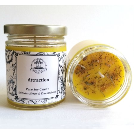 Attraction Soy Spell Candle for Love, Money and Manifestation  (Hoodoo, Voodoo, Wicca, & Pagan Spells) (Hoodoo Candle)