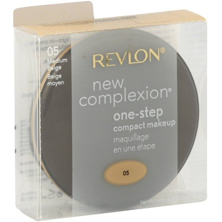 Face Makeup Steps (Revlon New Complexion One-Step Compact Makeup SPF 15, Medium Beige [005] 0.35)