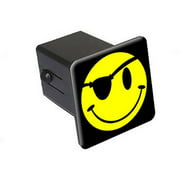 """Smile Smiley Pirate Face 2"""" Tow Trailer Hitch Cover Plug Insert"""
