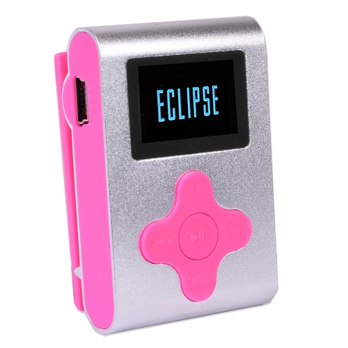 Eclipse Fit Clip 4GB MP3 USB 2.0 Compact Digital Music Player - Silver/Pink