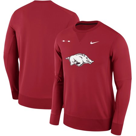 Arkansas Razorbacks Nike 2017 Sideline Therma-FIT Crew Sweatshirt -