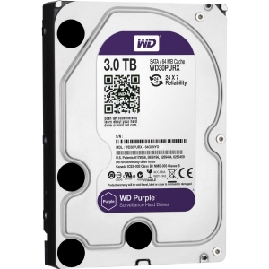 3TB WD PURPLE SATA 6GB/S 64MB 3.5IN SURVEILLANCE HARD DRIVE - WD30PURX