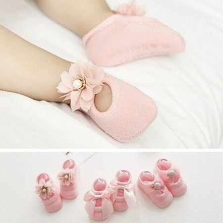 Baby-Girls Bow Tie Lace Socks Newborn/Infant/Toddler/Little Girls Socks - image 3 de 8