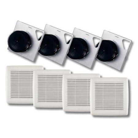 Broan A110F InVent Series 110 CFM 3 Sones HVI Certified Finish Pack with Grille Fan Finish Pack