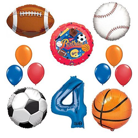 The Ultimate Sports Theme 4th Birthday Party Supplies and Balloon Decorating - Sport Theme Party