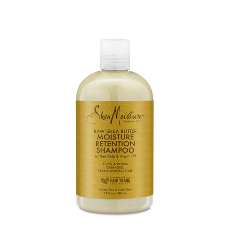 Shea Moisture Retention Shampoo for Dry, Damaged or Transitioning Hair Raw Shea Butter to Hydrate Hair 13 oz 8 Oz Shea Butter Shampoo
